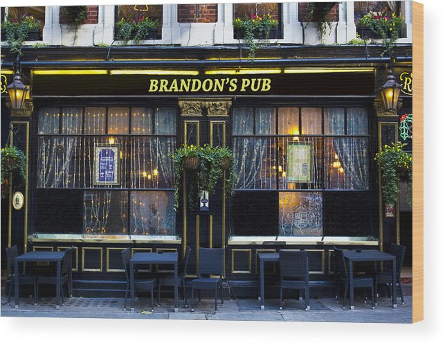 Brandon Wood Print featuring the photograph Brandon's Pub by David Pyatt