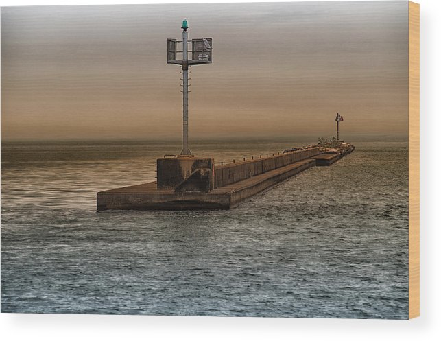 Breakwater Wood Print featuring the photograph Breakwater by Christopher Muto