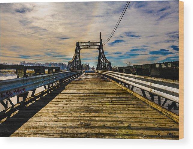 Bridge Wood Print featuring the photograph Bridge To No Where by Louis Dallara