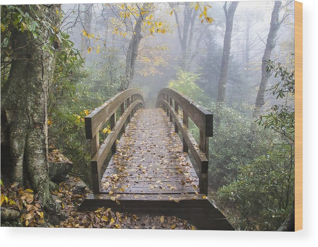 Bridge To Rough Ridge Wood Print featuring the photograph Bridge To Rough Ridge 07 by Jim Dollar