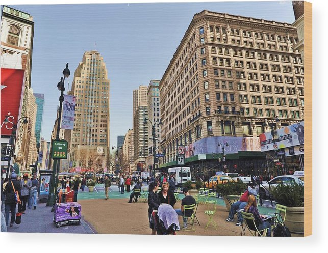 Broadway Wood Print featuring the photograph Broadway On 34th Street by Tony Ambrosio