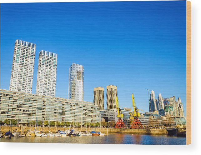 Apartment Wood Print featuring the photograph Buenos Aires Waterfront by Jess Kraft