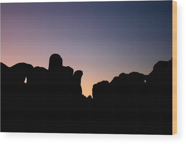 Sunset Wood Print featuring the photograph Bumpy Sunset by Gregory Yost