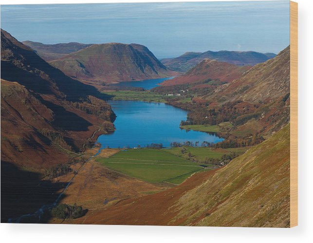 Buttermere Wood Print featuring the photograph Buttermere View by Nick Atkin
