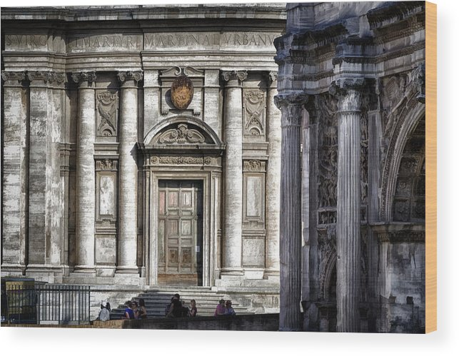 Ancient Wood Print featuring the photograph By The Arch by Joan Carroll