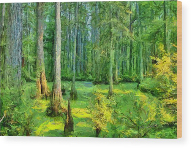 Swamp Wood Print featuring the photograph Cache River Swamp by Michael Flood