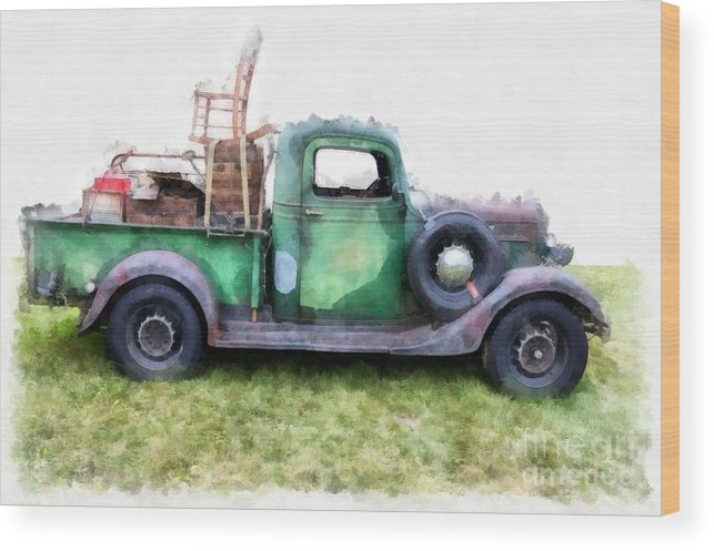 Truck Wood Print featuring the photograph California Or Bust by Edward Fielding