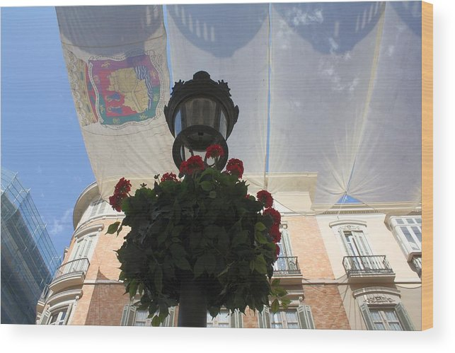 Calle Larios Malaga Wood Print featuring the photograph Calle Larios Malaga by Jan Katuin