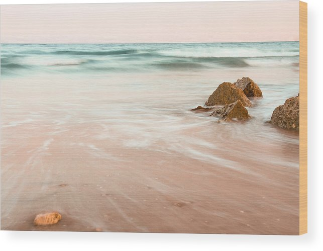 Beach Wood Print featuring the photograph Calm Storm by Kruise Link