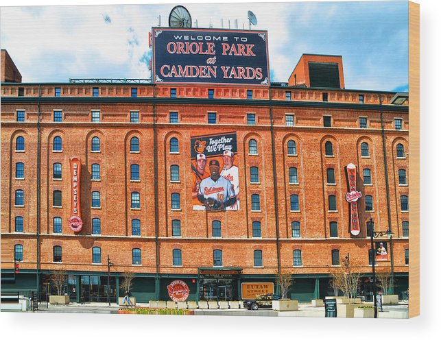 Camden Yards Wood Print featuring the photograph Camden Yards by Bill Cannon