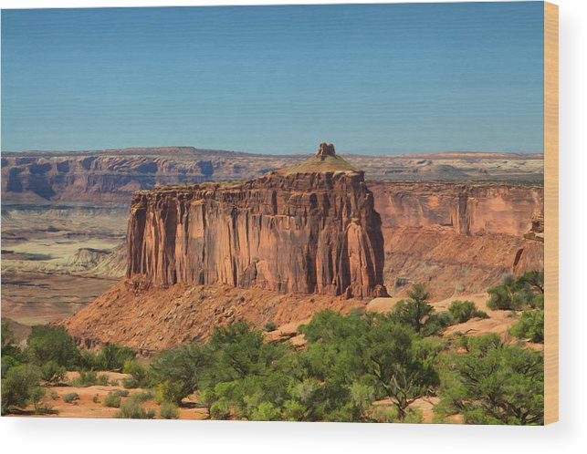 Utah Wood Print featuring the painting Canyonlands #1 by Paddrick Mackin