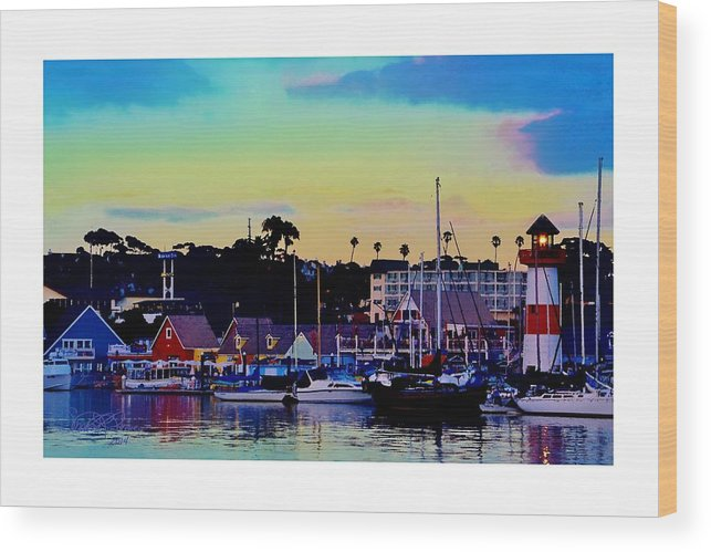 Cape Cod Harbor Wood Print featuring the photograph Cape Cod Harbor by Sharon Lavoie