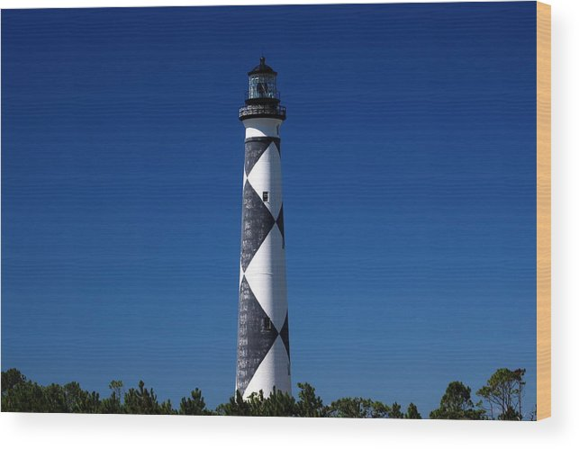 Cape Lookout Wood Print featuring the photograph Cape Lookout In The Blue by Rand Wall