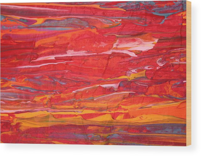 Modern Abstract Wood Print featuring the painting Caribbean Dreams 2 by Shelly Sexton