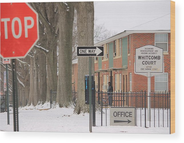 Projects Wood Print featuring the photograph Carmine Street by Derek Woodley