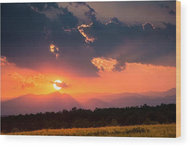 Carpathian Wood Print featuring the photograph Carpathian Sunset by Mihai Andritoiu