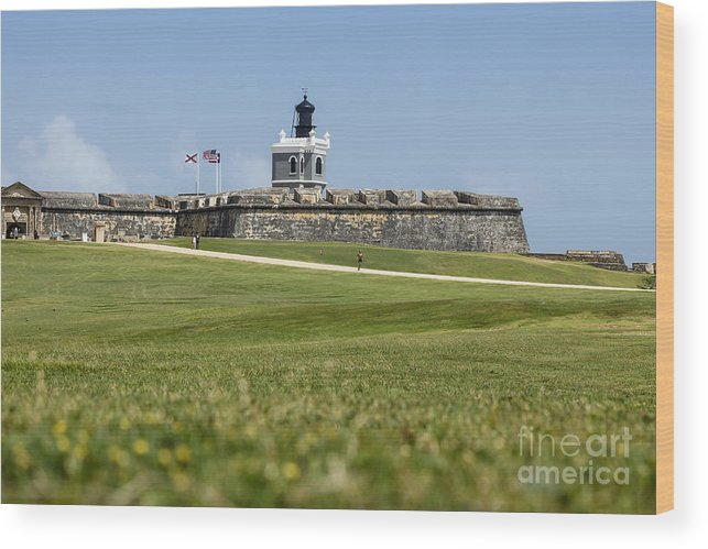 El Morro Wood Print featuring the photograph Castle Yard by Scott Kerrigan
