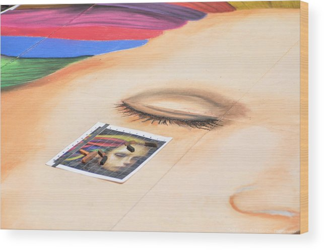 Teresa Blanton Wood Print featuring the photograph Chalk Event Eye by Teresa Blanton
