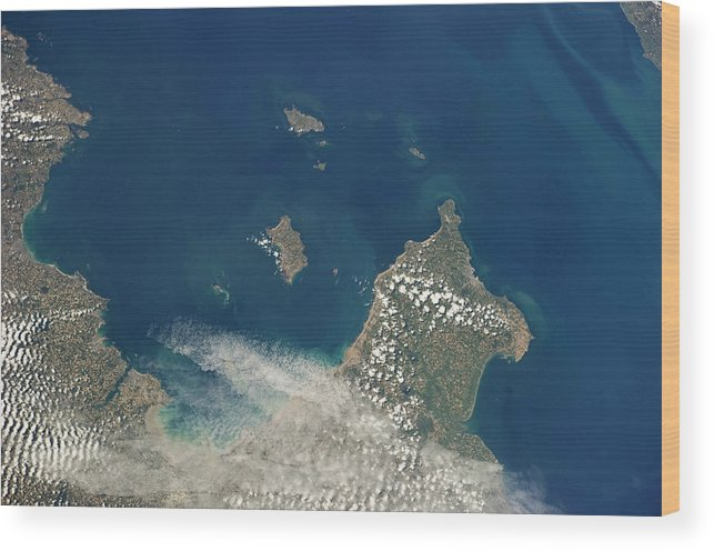 Channel Islands Wood Print featuring the photograph Channel Islands by Nasa