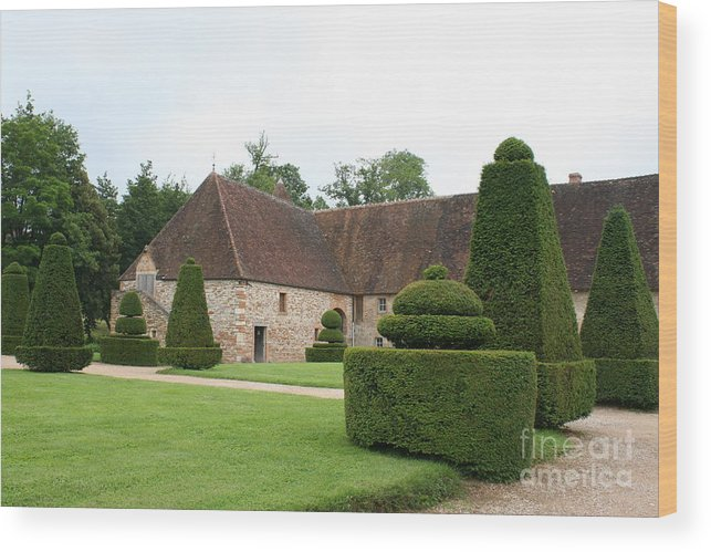 Stable Wood Print featuring the photograph Chateau De Cormatin Stable by Christiane Schulze Art And Photography