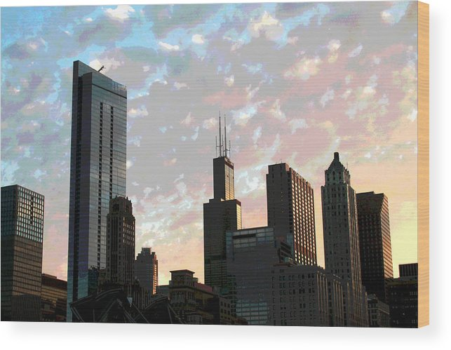 Chicago Wood Print featuring the photograph Chicago - South Loop by Greg Thiemeyer