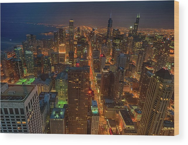 Tranquility Wood Print featuring the photograph Chicagos Magnificent Mile by By Ken Ilio