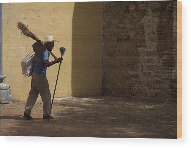 Sweep Wood Print featuring the photograph Chimney Sweep by Glenn Jenks