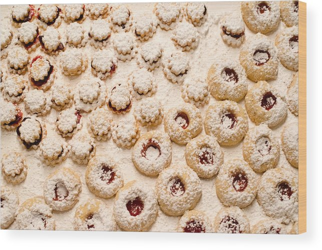 Jam Wood Print featuring the photograph Christmas Cookies by Frank Gaertner