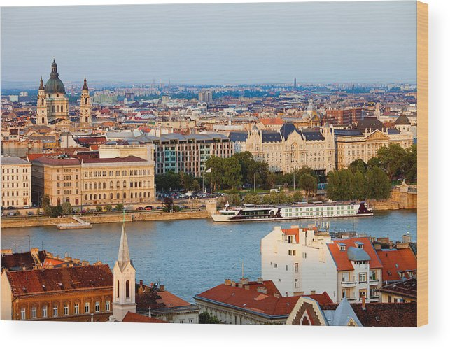 Budapest Wood Print featuring the photograph City Of Budapest Cityscape by Artur Bogacki