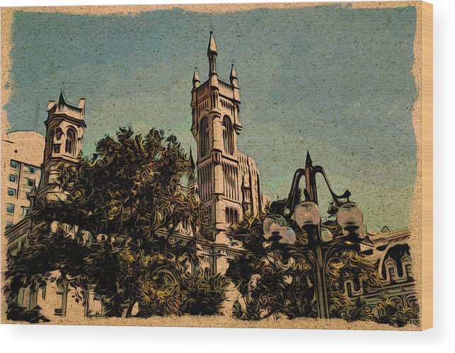 Philadelphia Wood Print featuring the photograph Cityview by Alice Gipson