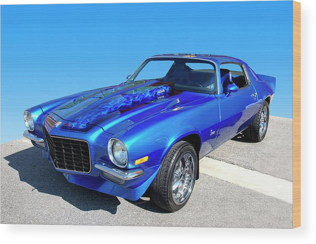 1973 Wood Print featuring the photograph Classic Car 1973 Camaro 1 by Paul Cannon