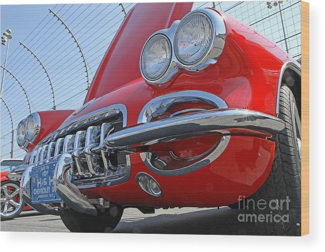 American Wood Print featuring the photograph Classic Chevrolet Corvette Automobile by Kevin McCarthy
