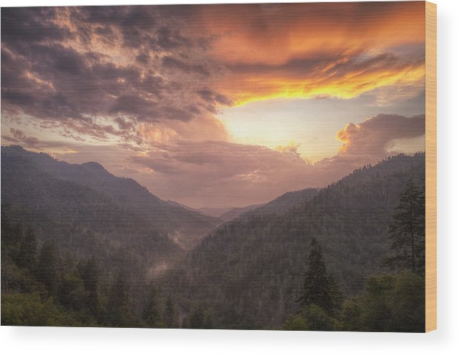 Smokies Wood Print featuring the photograph Clearing Skies by Andrew Soundarajan