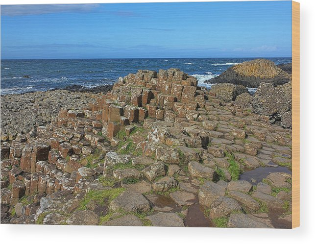 Giant's Causeway Wood Print featuring the photograph Clochan An Aifir by Lanis Rossi