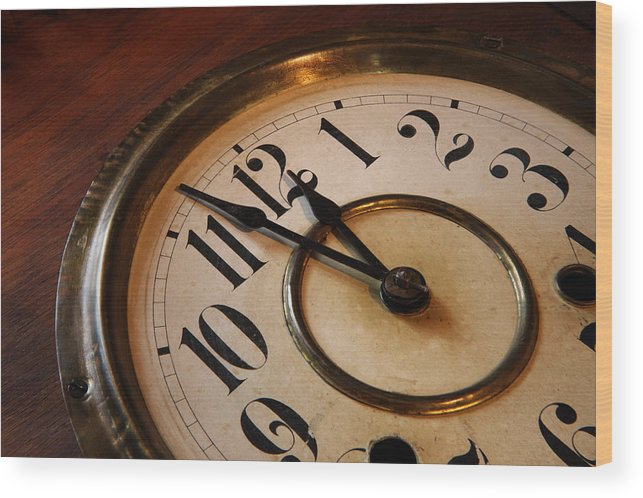Very Wood Print featuring the photograph Clock Face by Johan Swanepoel