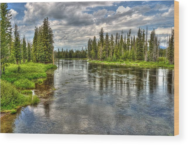Snake River Wood Print featuring the photograph Clouds Over Henry's Fork by TL Mair