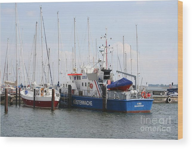 Harbor Wood Print featuring the photograph Coast Guard Maasholm Harbor by Christiane Schulze Art And Photography