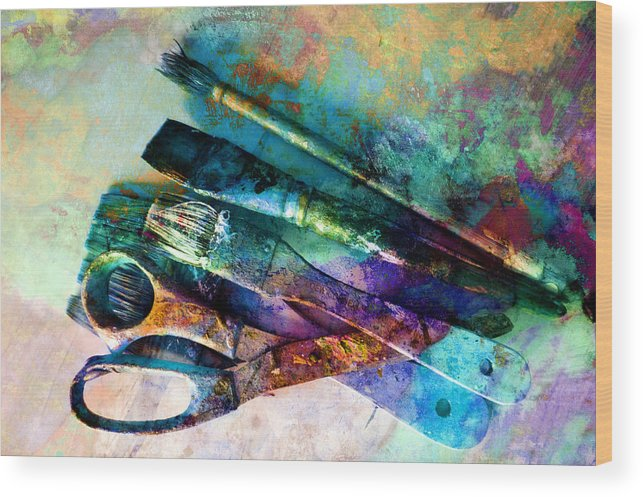 Color Wood Print featuring the photograph Color Your World by Ann Powell