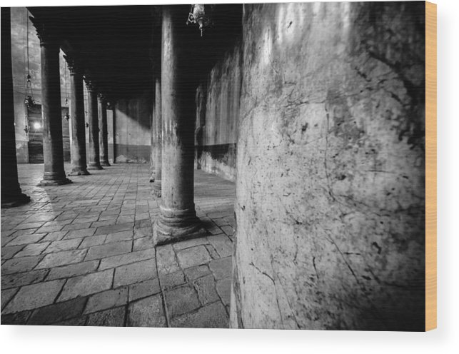 Israel Wood Print featuring the photograph Columns At The Church Of Nativity by David Morefield