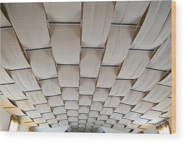 Industrial Wood Print featuring the photograph Come Sail Away Ceiling by Alys Caviness-Gober