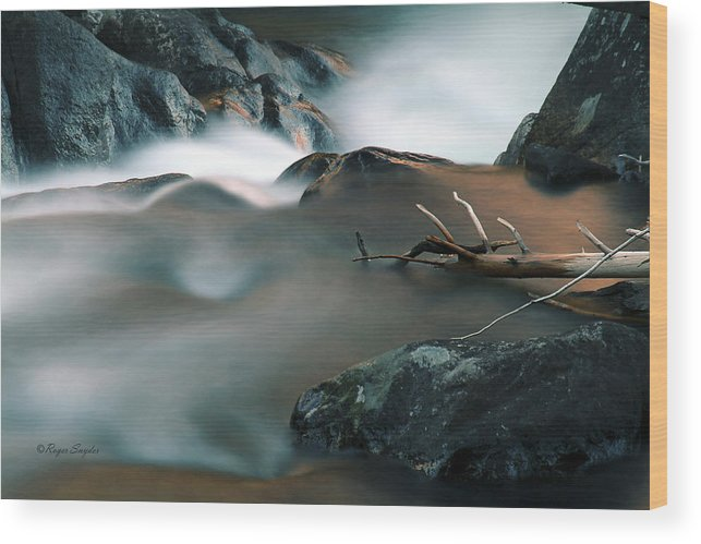 Unique Wood Print featuring the photograph Copper Stream 2 by Roger Snyder