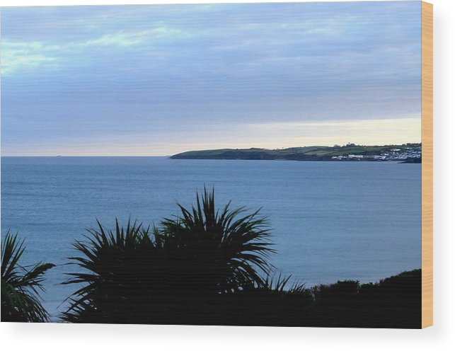Tranquil Wood Print featuring the photograph Cornwall Coast Subdued Sunset by Tom Wurl