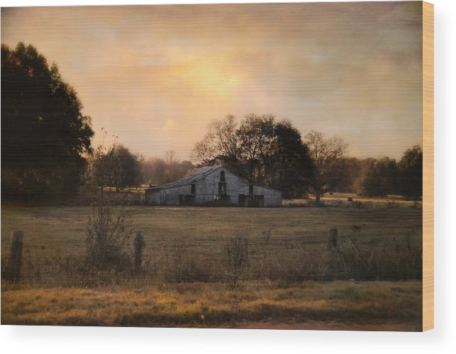 Architecture Wood Print featuring the photograph Country Heirloom by Jai Johnson
