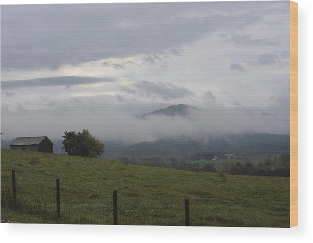 Farm Wood Print featuring the photograph Country Storm by Andrew Romer