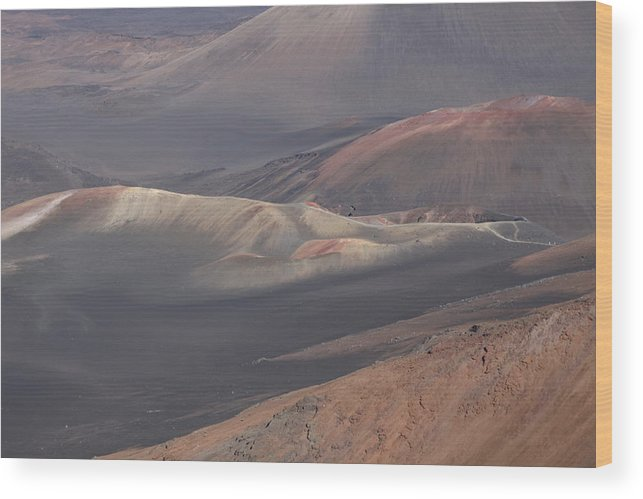 Volcano Wood Print featuring the photograph Crater by Dick Willis