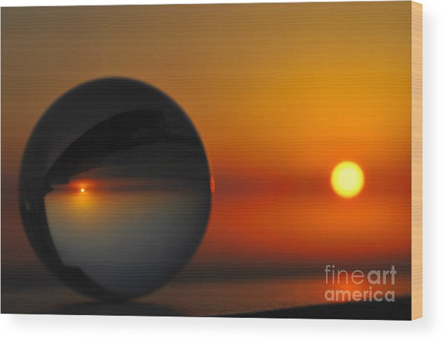 Sunset Wood Print featuring the photograph Crystal Ball by Naidu Martinez