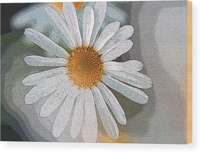 Daisy Wood Print featuring the digital art Daisies by Ronald Jansen