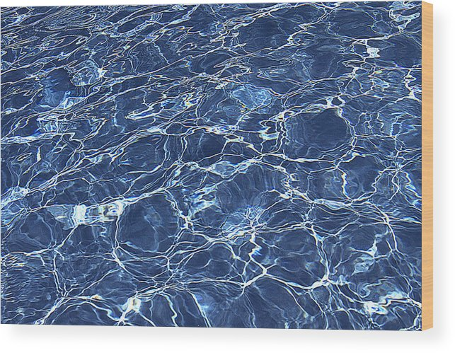 Pool Wood Print featuring the photograph Dancing Water 5 by Peter Lloyd