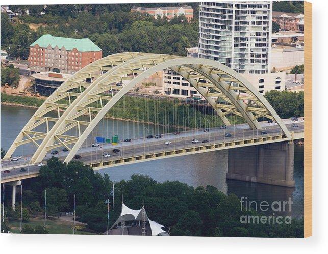 2012 Wood Print featuring the photograph Daniel Carter Beard Bridge Cincinnati Ohio by Paul Velgos