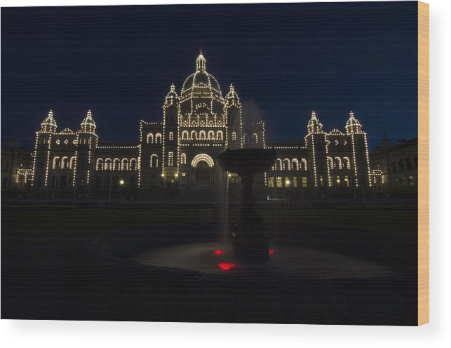 Night Shots Wood Print featuring the photograph Dark Outside by Irene Theriau